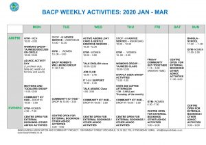 WKly Timetable 2020 JAN-MAR-1