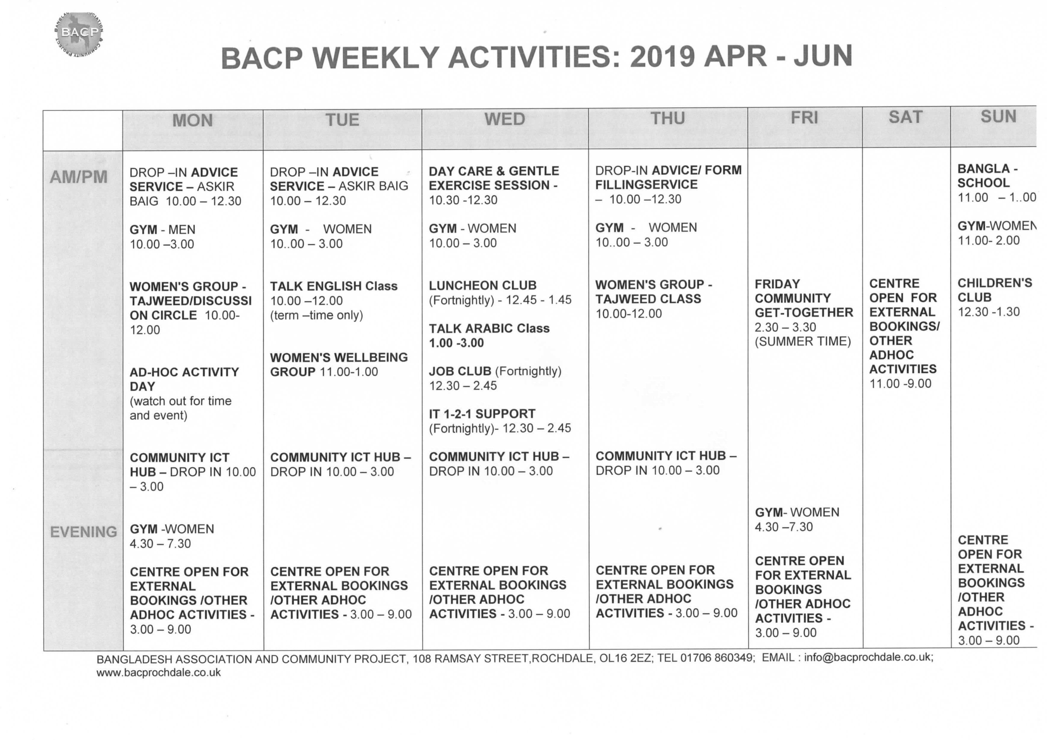 WKly Timetable 2017 JUL - SEPT-1